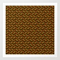 Colors of Autumn Pattern Art Print