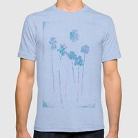 Palms Mens Fitted Tee Tri-Blue SMALL