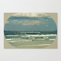 Sarah Kay - Ocean Quote Canvas Print