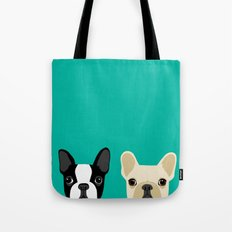Boston Terrier & French … Tote Bag
