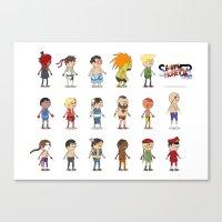 Super Street Fighter II Turbo Canvas Print