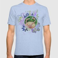 Flamingo Mens Fitted Tee Athletic Blue SMALL
