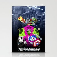Floating BunnyHead + Avengers Stationery Cards