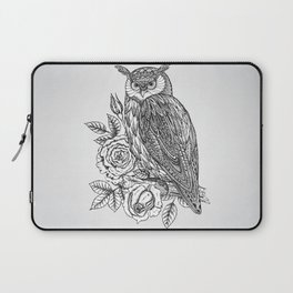 Laptop Sleeve - Owl with flowers - UniqueD