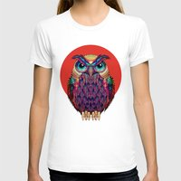 owl T-shirts featuring OWL 2 by Ali GULEC