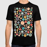 Happy Shiny Droplets Mens Fitted Tee Black SMALL