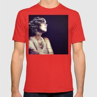 Time waits for no one. Mens Fitted Tee Red SMALL