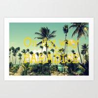On My Way To Paradise Art Print