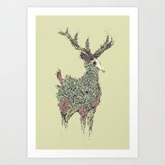 Beautiful Deer Old Art Print