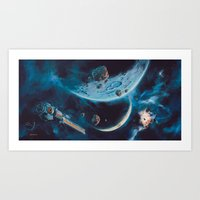 Milking The Stars - Monster Magnet Inside cover panorama Art Print