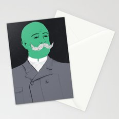 Stache man Stationery Cards