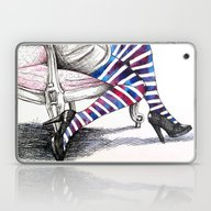 Seated Stripes Laptop & iPad Skin
