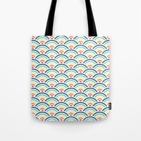 rainbowaves pattern (light) Tote Bag