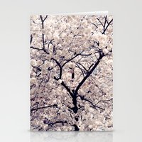 cherry blossom Stationery Cards featuring Cherry Blossom * by Neon Wildlife