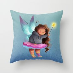 the lazy fairy godmother Throw Pillow
