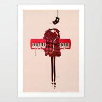 Hounds Tooth Art Print