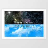 Know Your Limits Art Print