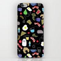 Breakfast pattern iPhone & iPod Skin