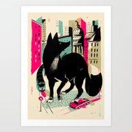 GIANTS! Fox Art Print