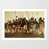 Samburu Ceremonial Dance Art Print