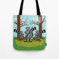 Raccoons Playing Bassoon… Tote Bag