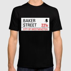221B Baker Street Mens Fitted Tee SMALL Black