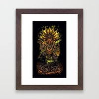With Doctor Framed Art Print