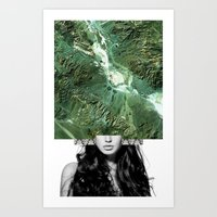 Miss Mountain Art Print