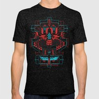 Skull Native Mens Fitted Tee Tri-Black SMALL