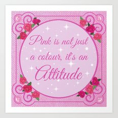 Pink Roses / Floral Quote Art Print