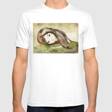 Humus SMALL White Mens Fitted Tee