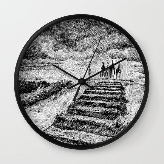 Storm - Ink Wall Clock