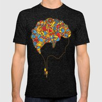 Musical Mind Mens Fitted Tee Tri-Black SMALL