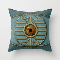 Steampunk Security Throw Pillow