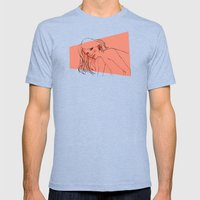 GrrL Mens Fitted Tee Tri-Blue SMALL