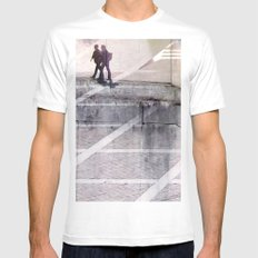 v1bsyn Mens Fitted Tee SMALL White