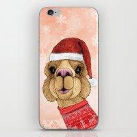Alpaca Christmas iPhone & iPod Skin