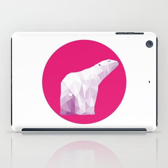 Magenta Polar Bear iPad Case