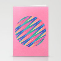 Circle Of Lines Stationery Cards