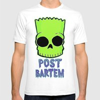 Post Bartem Mens Fitted Tee White SMALL