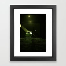 3D concept art Framed Art Print