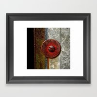 Rusted Washer Framed Art Print