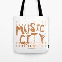 Music City Paris Tote Bag