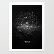 STARGAZING IS LIKE TIME … Art Print