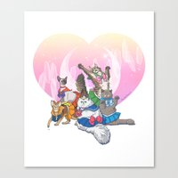 Sailor Kitties Canvas Print