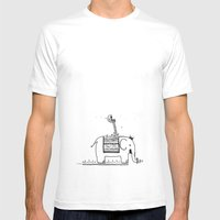 On My Elephant  Mens Fitted Tee White SMALL