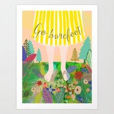 GO BAREFOOT Art Print