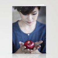 Apple, My Sweet? (Snow W… Stationery Cards