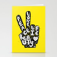 PEACE, LOVE, BEAUTY, LIFE Stationery Cards