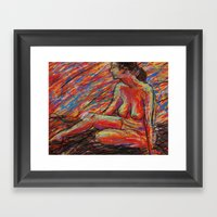 Hypatia On Fire Framed Art Print